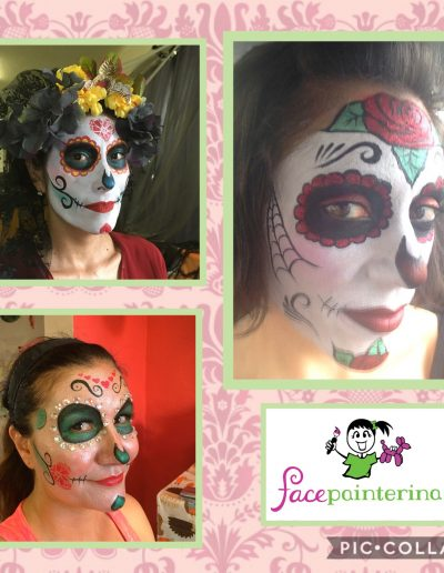 Collage of Sugar Skull Face Paints for Women