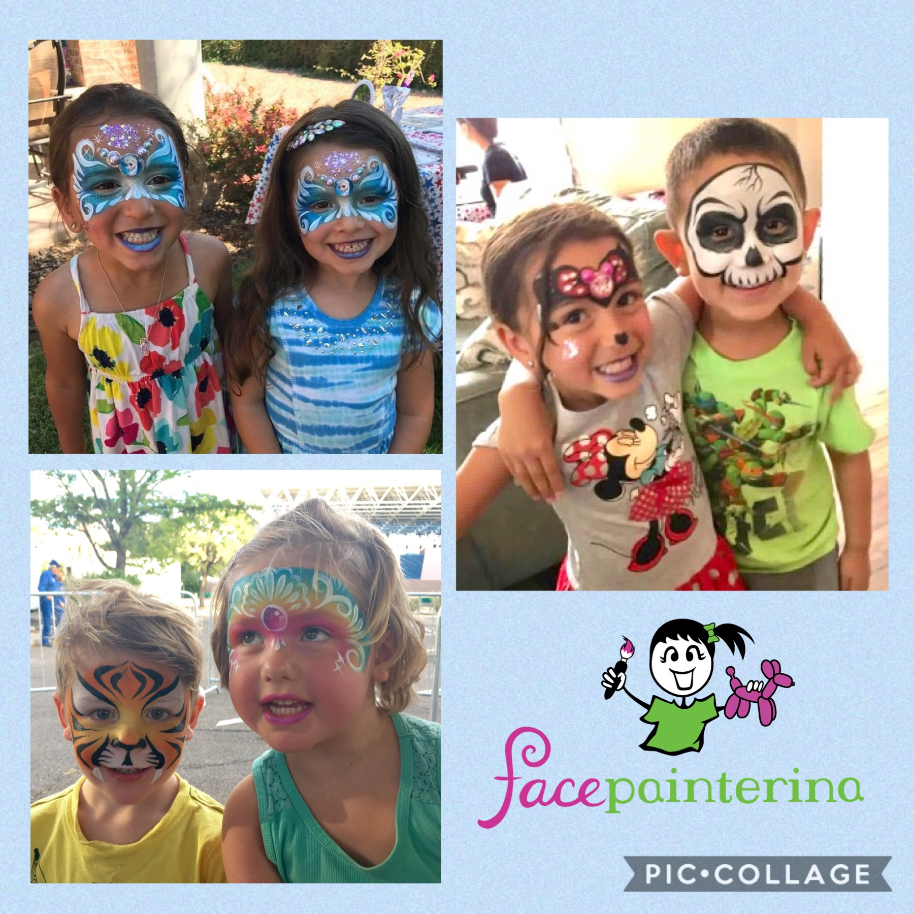 Kids with face painting by Facepainterina