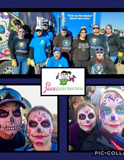 NM True Balloon Crew with Sugar Skull Face Paints by Facepainterina