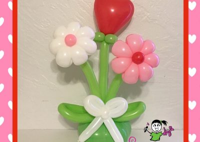 Daisies and Heart Balloon Bouquet