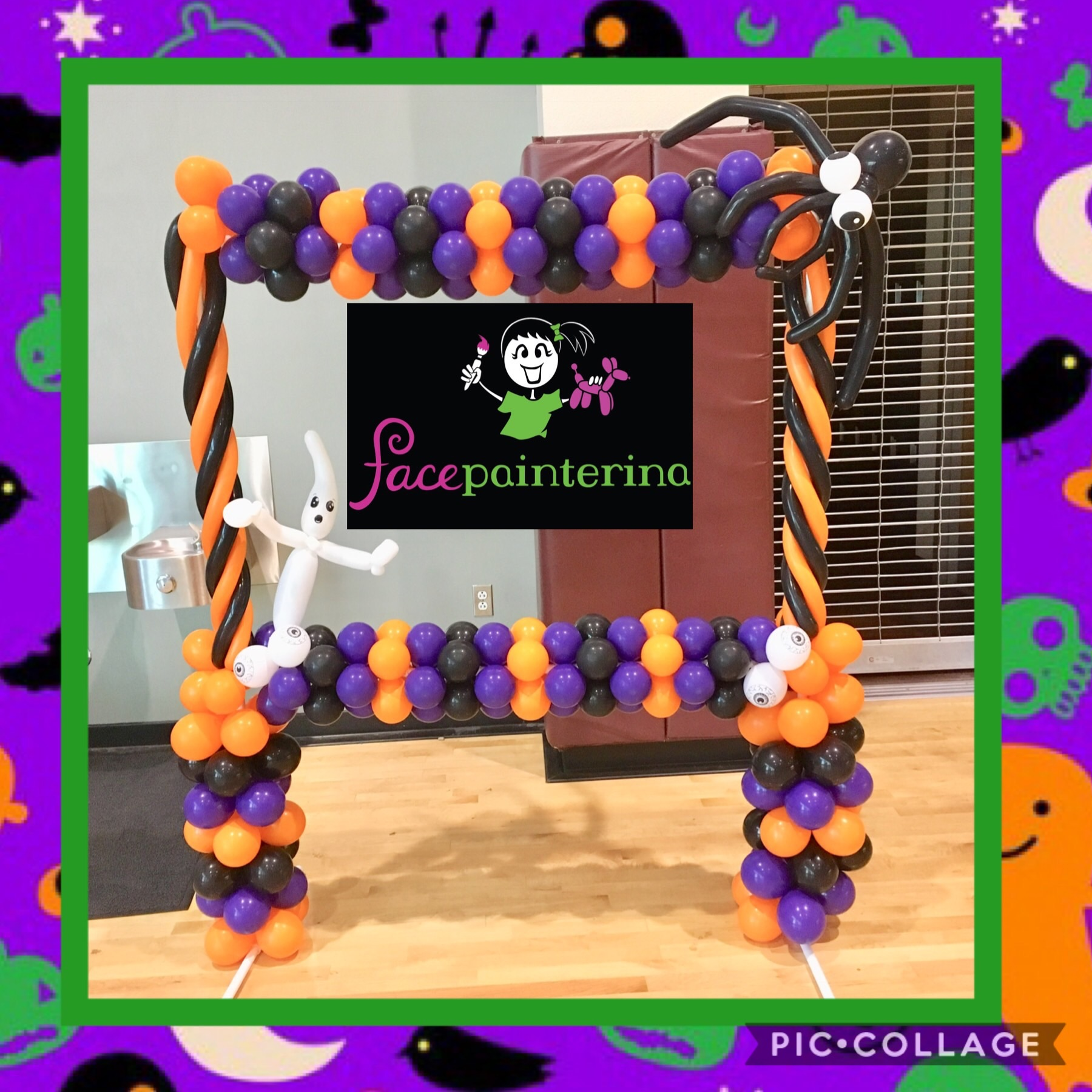 Halloween Balloon Photo Frame