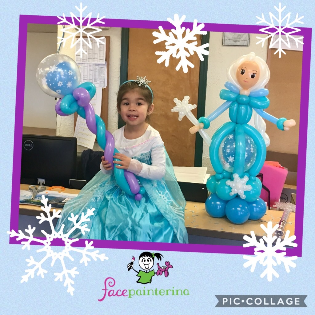Balloon animal frozen wand Elsa