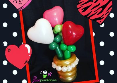 Heart Balloon Bouquet with Vase