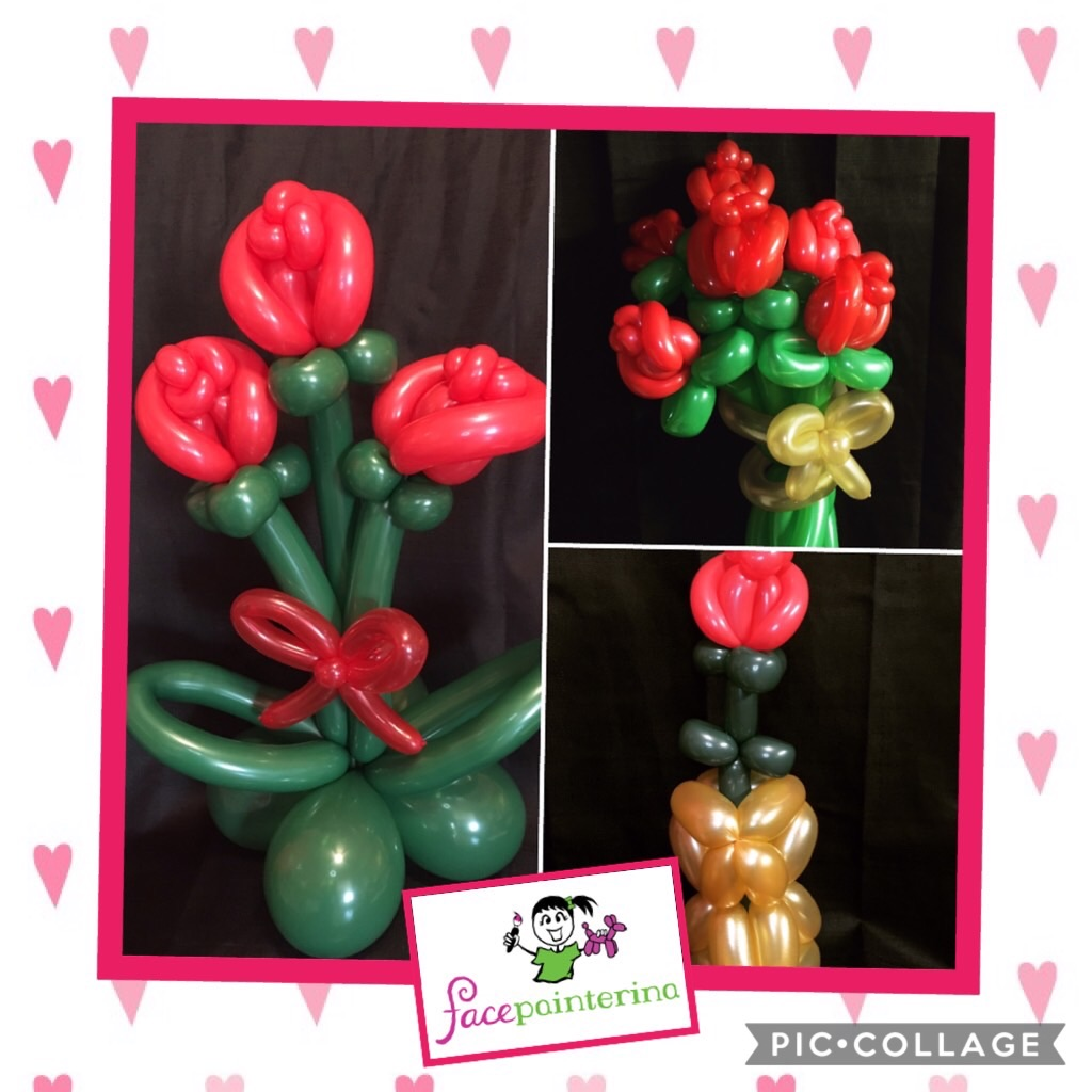 Balloon bouquet roses valentines gifts