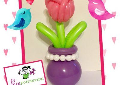 Tulip Balloon in Vase