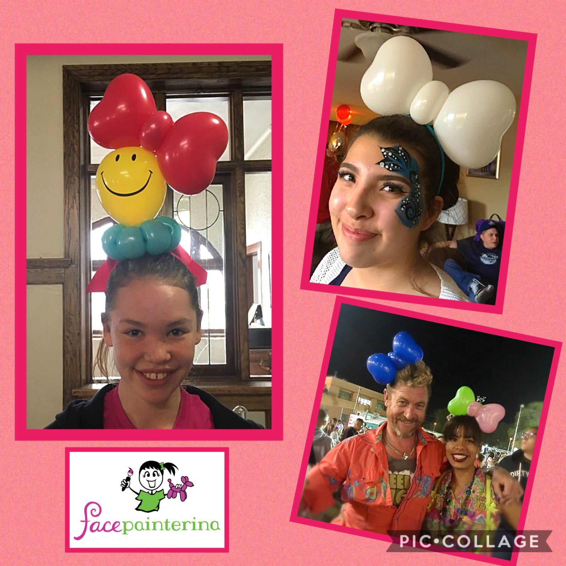 Balloon bow hats