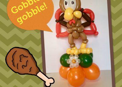Balloon Centerpiece Thanksgiving Turkey