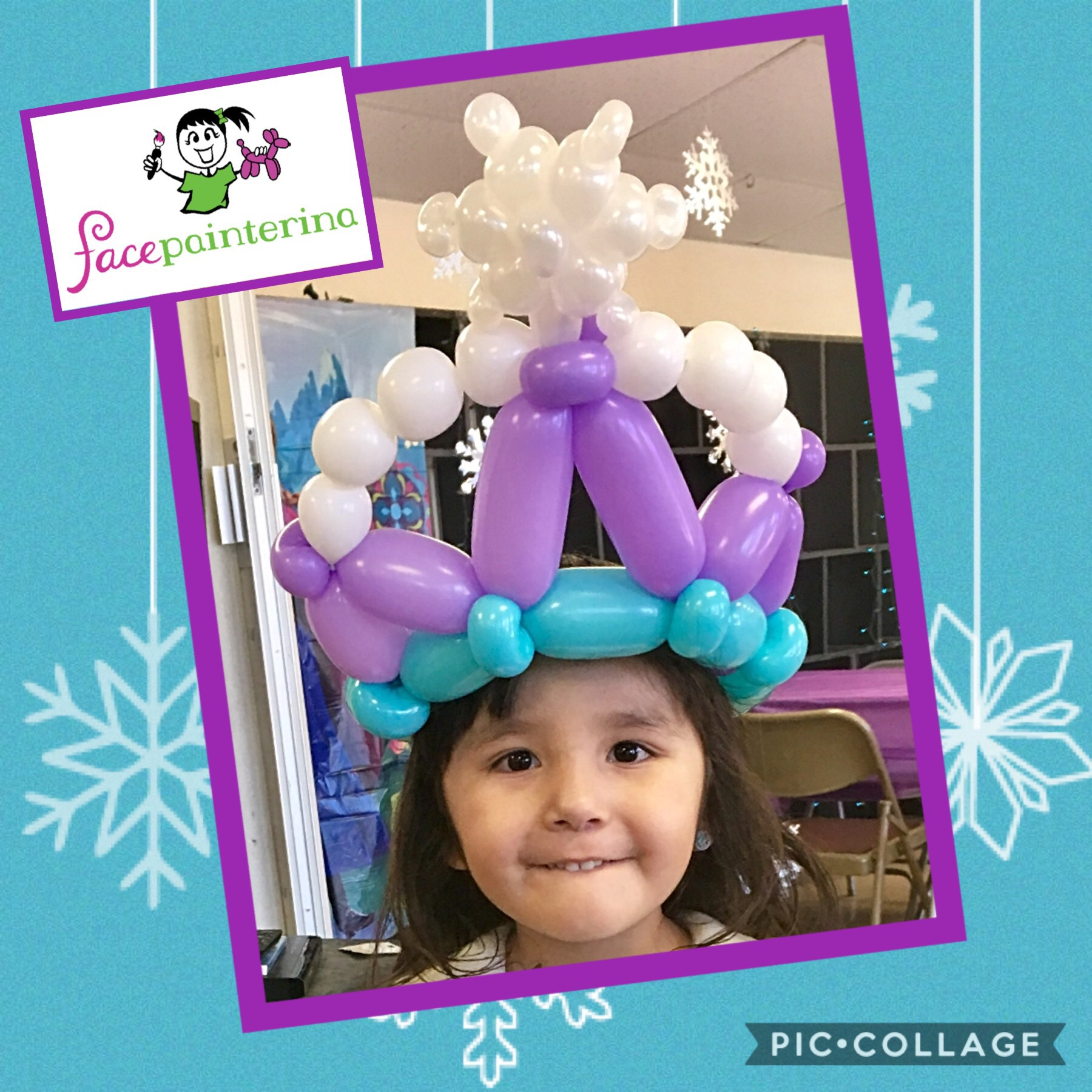 Balloon crown Frozen Elsa