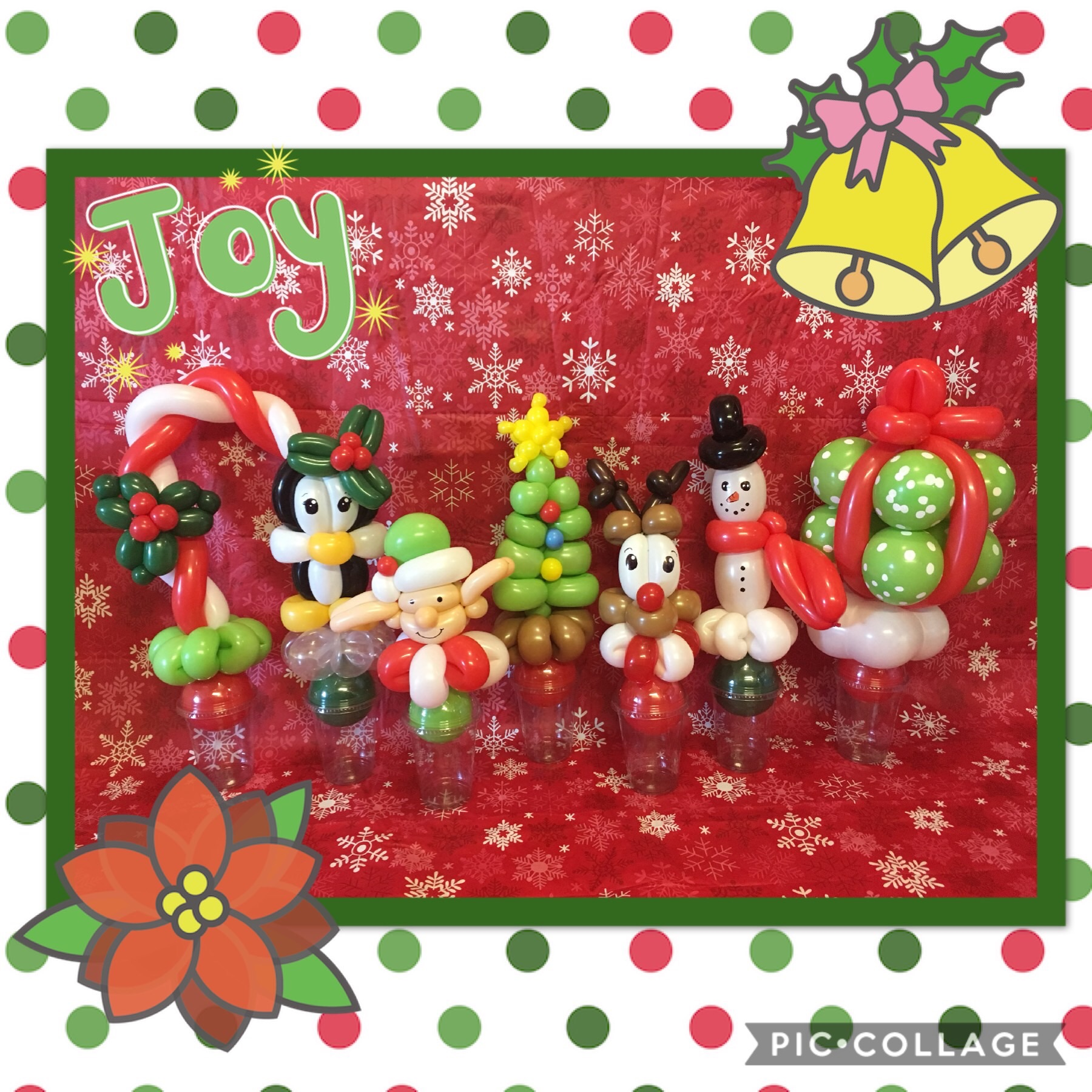 Various Christmas Balloon Cups
