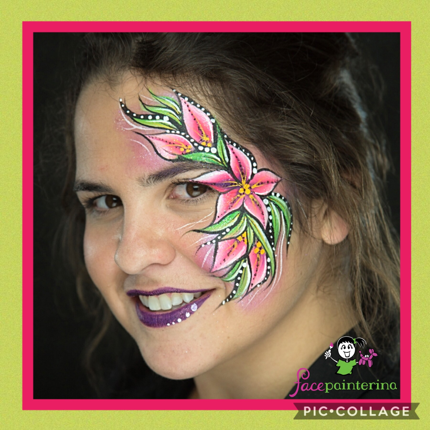 Flower Eye face paint