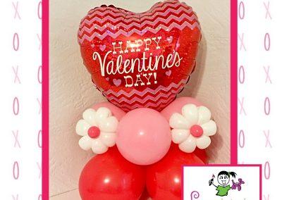 Foil Valentine's Day Balloon Centerpiece