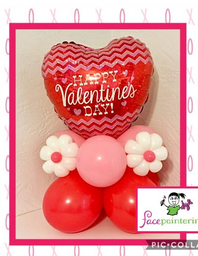 Foil Valentine's Day Balloon Centerpiece