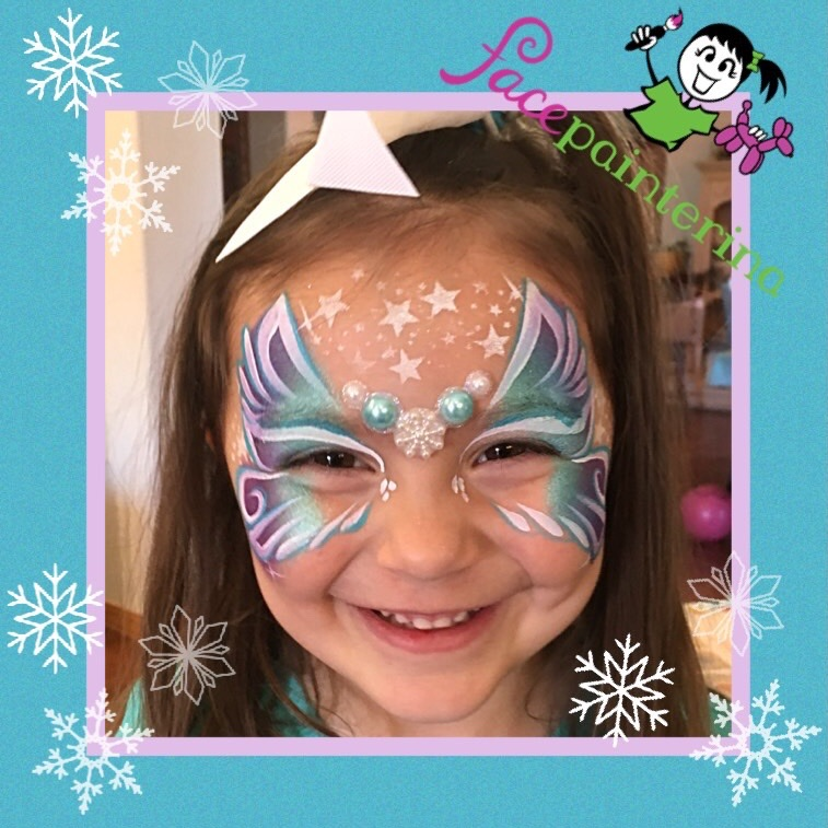 Frozen Butterfly Face Paint by Facepainterina
