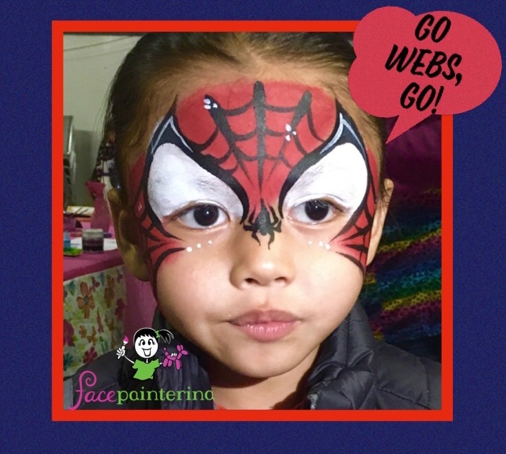Spider Boy Face Paint by Facepainterina
