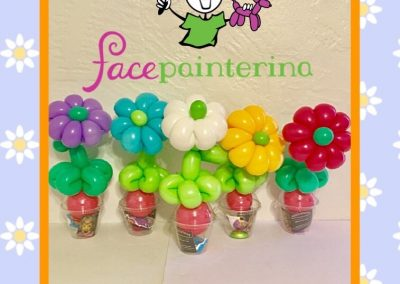 Daisy Flower Balloon Cups