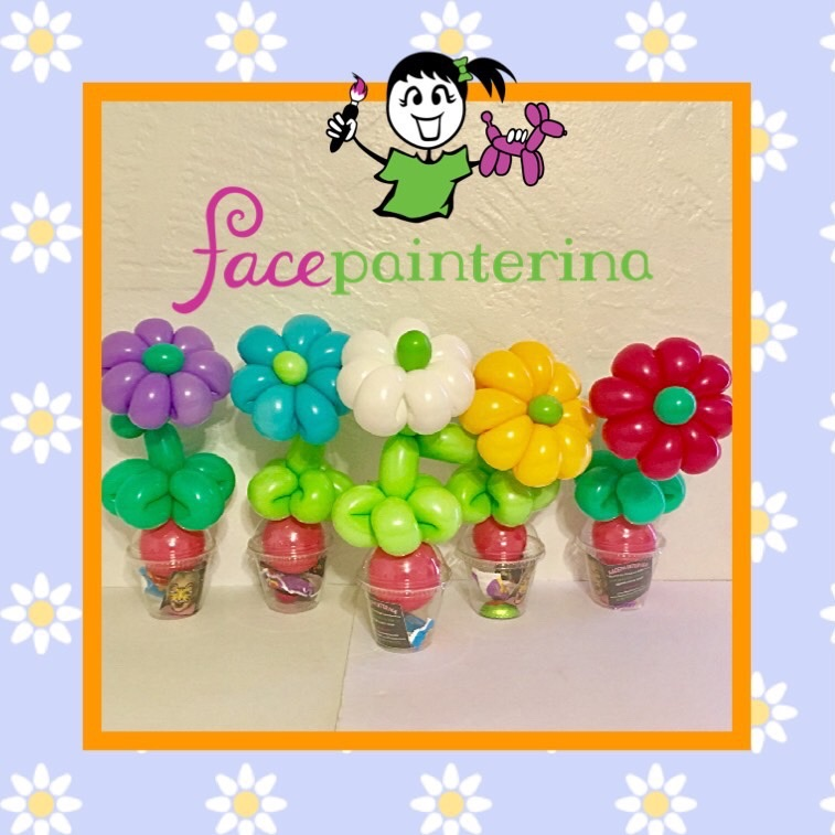 Daisy Flower Balloon Cups