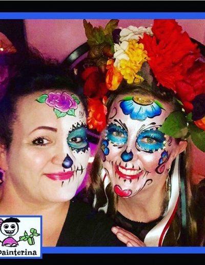 Birthday Sugar Skulls Face Paints by Facepainterina 2018