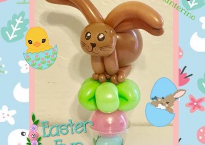 Chocolate Bunny Balloon Cup
