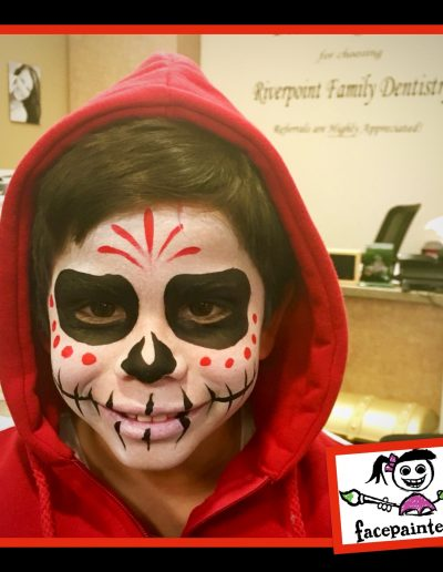 Coco Sugar Skull Face Painting by Facepainterina 2018