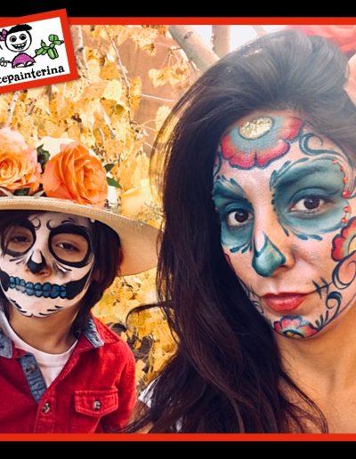 Mother and Son Calaveras by Facepainterina 2018