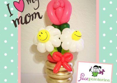 Rose Daisry Balloon Bouquet