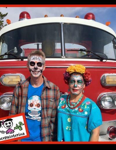 Sugar Skull Face Paints by Facepainterina 2018