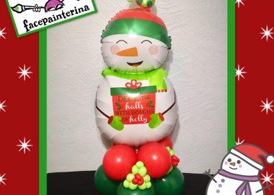 Snowman Foil Balloon Centerpiece