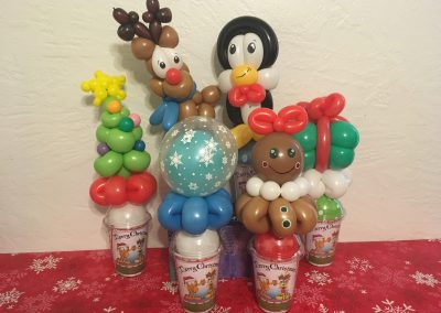 Assorted Winter Balloon Cups